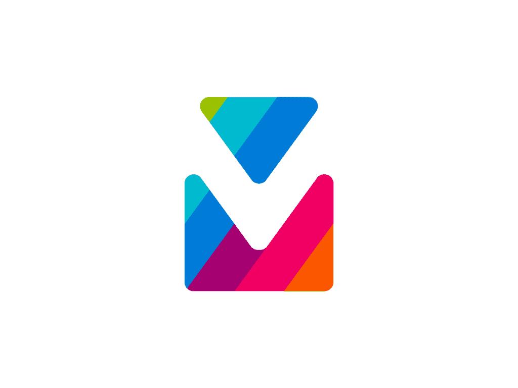 Vm V M Double Monogram Via Mail Logo Design By Alex Tass 4x Png