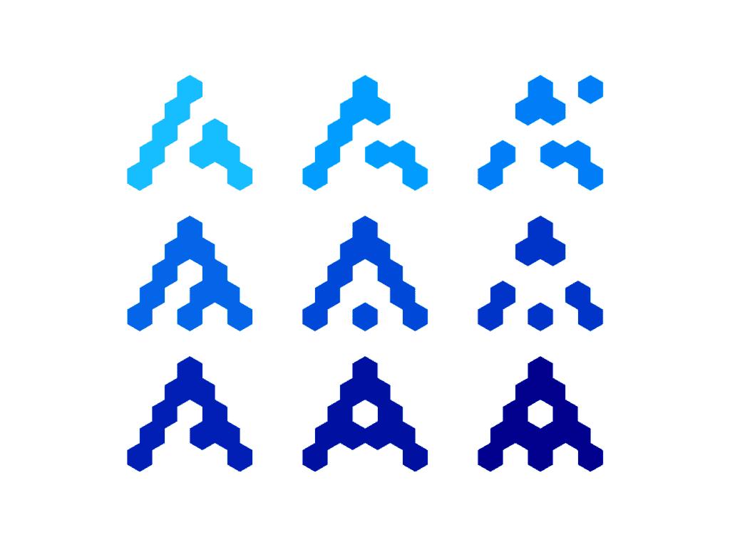 Letter Mark A Modules Blocks Network Icon Logo Design Symbol By Alex Tass Png