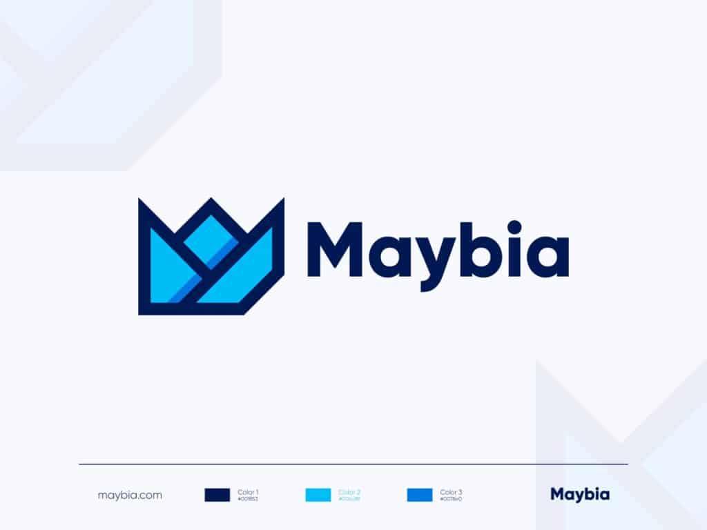 Maybia Modern Logo Design 4x Jpg